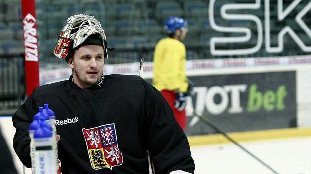 Tomáš Pöpperle na tréninku hokejové reprezentace