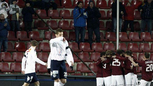 Sparťanská radost vypukla už v první minutě po gólu Keriče.