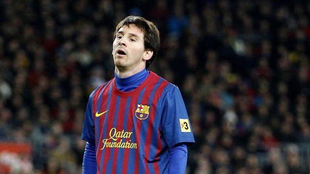 Rozčarování ve tváři Lionela Messiho po promarněné šanci v utkání s Levante.