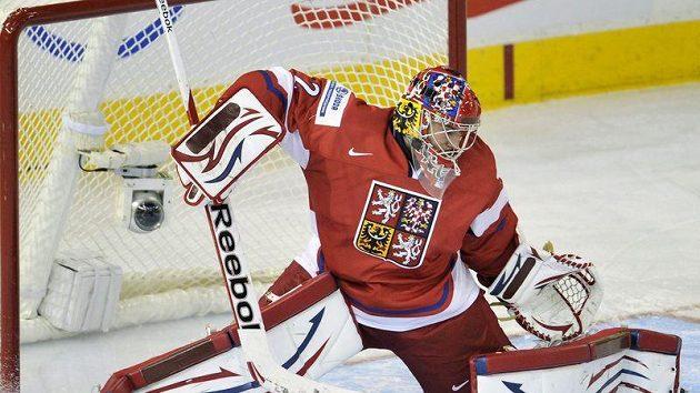 Oporou českého týmu je brankář Petr Mrázek