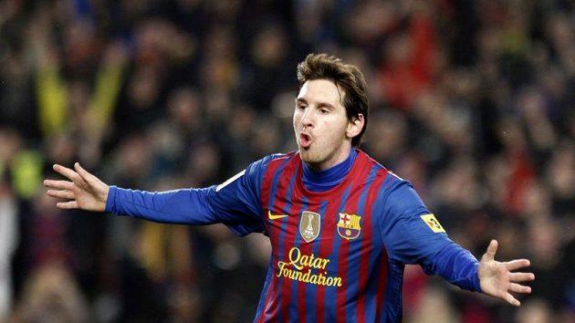 Barcelonský fotbalový mág Lionel Messi řádí.