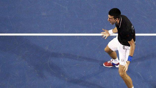 Radost Novaka Djokoviče po finále Australian Open