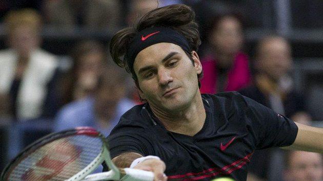 Švýcar Roger Federer na turnaji v Rotterdamu.
