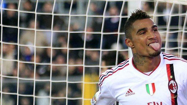 Kevin-Prince Boateng z AC Milán se raduje branky