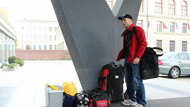 Boxer Lukáš Konečný se jde v Brně ubytovat, míří do prezidentského apartmá.