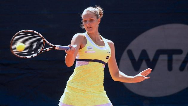 Karolína Plíšková ve finále pražského turnaje.