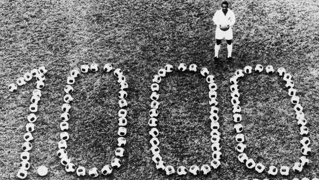 Fotbalový král Pelé dal tisící gól kariéry 19.listopadu 1969 v zápase proti Vasco de Gama na Maracaná.