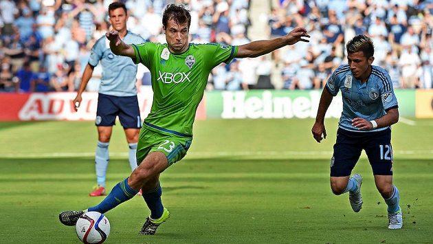 Andreas Ivanschitz ještě v zeleném dresu Seattlu.