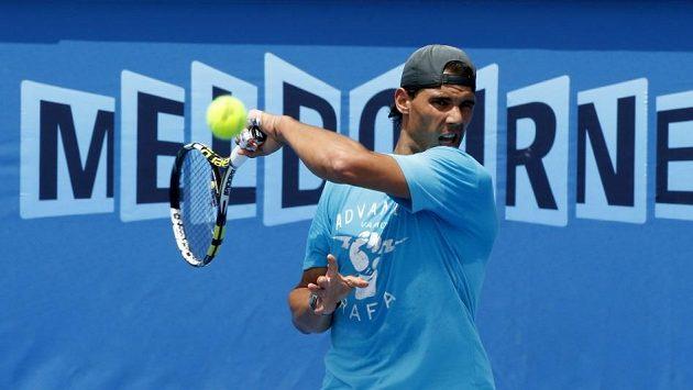 Světová jednička Rafael Nadal na Australian Open.