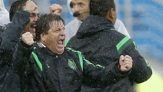 Kouč Mexičanů Miguel Herrera se i přes neuznané dva góly nakonec mohl radovat z vítězství.