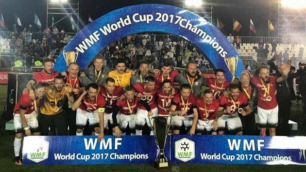 Čeští reprezentanti vyhráli mistrovství světa v malém fotbale.