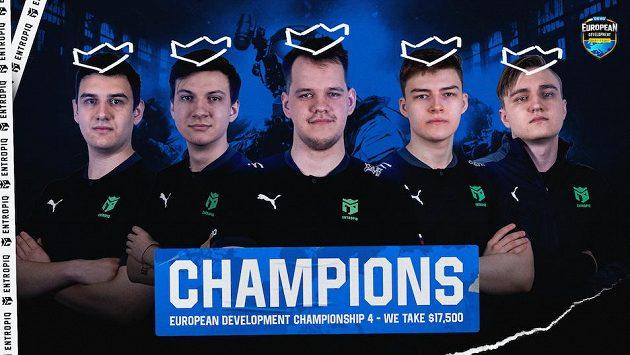 CS:GO sestava Entropiqu slaví další turnajový triumf. Zdroj: www.entropiq.gg