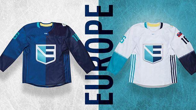 Dres týmu Evropy pro Světový pohár v hokeji. Ilustrační snímek.