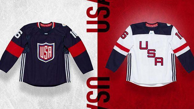 Dres Spojených států amerických pro Světový pohár v hokeji.