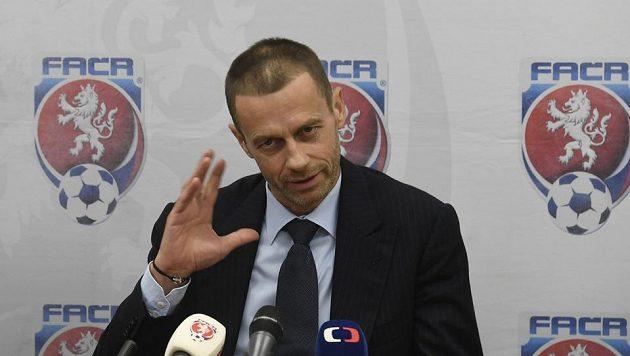 Prezident UEFA Aleksander Čeferin při návštěvě Prahy.