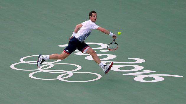 Britský tenista Andy Murray se připravuje v dějišti her v Riu.