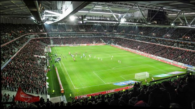 Stade Pierre-Mauroy v Lille.
