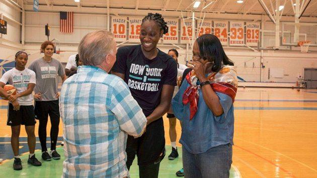 Basketbalistka Tina Charlesová ještě v dresu celku New Yorku Liberty.