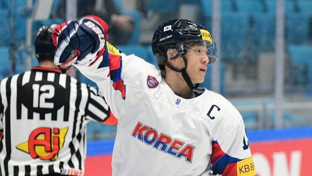 Korejský kapitán Kim Sang-wook na MS.