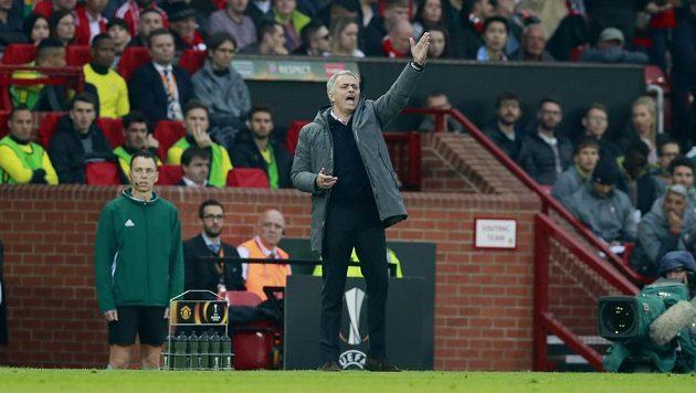 Kouč Manchesteru United Jose Mourinho během odvety semifinále Evropské ligy.