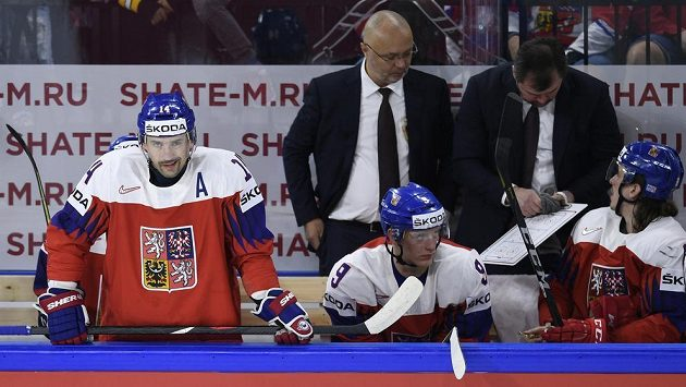 Tomáš Plekanec na reprezentační střídačce.