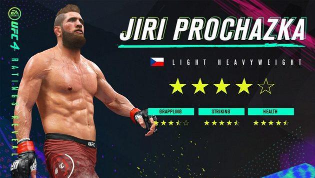 Jiří Procházka se stal součástí počítačové hry UFC 4.