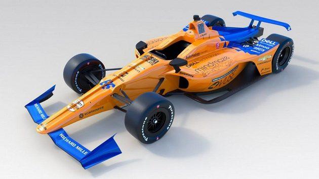 Monopost McLarenu, se kterým pojede Fernando Alonso Indy 500.