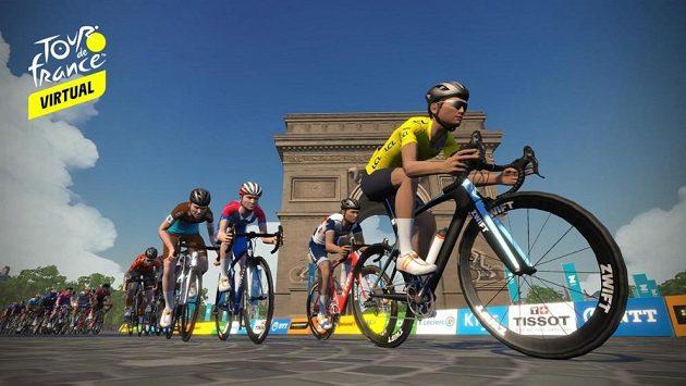 První etapu virtuální Tour de France ovládl Jihoafričan Gibbons.