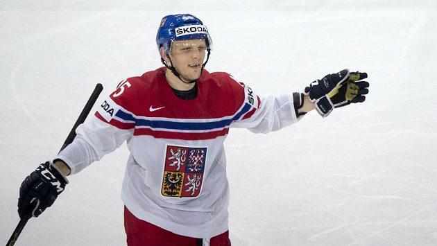 Obránce české hokejové reprezentace Radim Šimek.