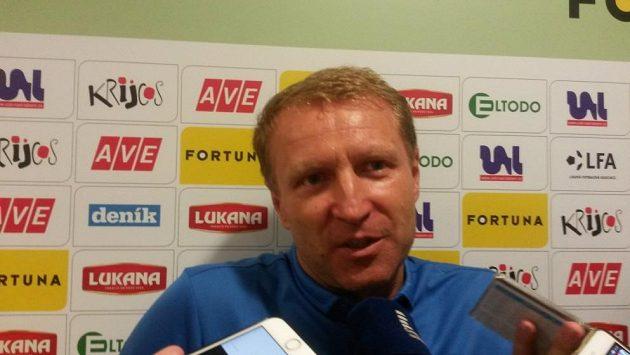Trenér fotbalistů FK Ústí nad Labem Aleš Křeček.