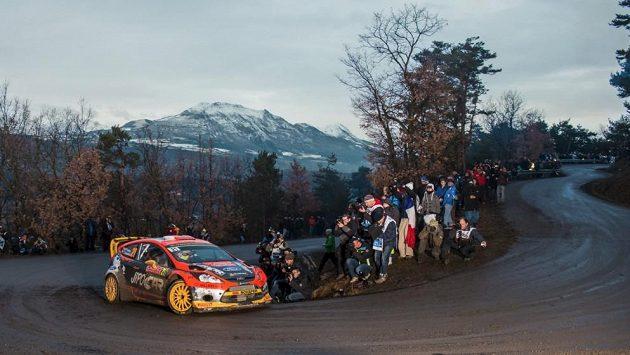Martin Prokop s Fordem Fiesta WRC na ilustračním snímku z Rallye Monte Carlo.