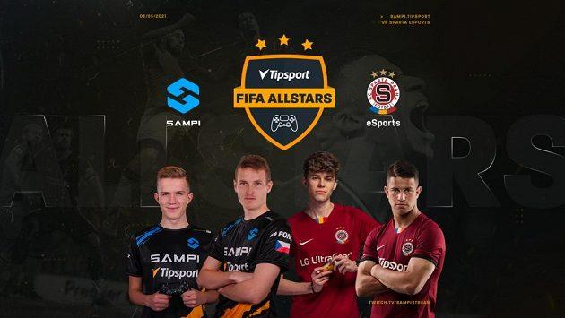 Přátelský zápas ve hře FIFA 21 mezi týmy Sparty a Sampi je na programu v pondělí, představí se i fotbalové hvězdy Jakub Jankto a Adam Hložek.