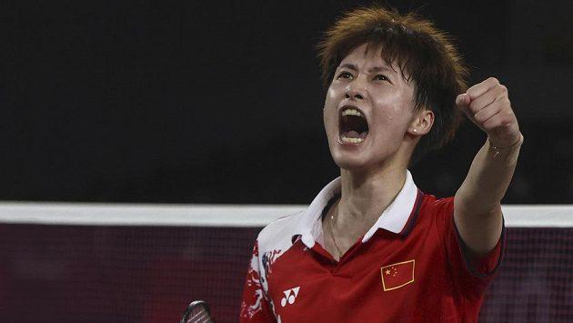 Zlatou medaili ve dvouhře badmintonistek získala na olympijských hrách v Tokiu Čchen Jü-fej z Číny.