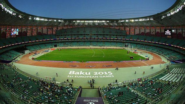 Olympijský stadion v Baku, ilustrační foto.