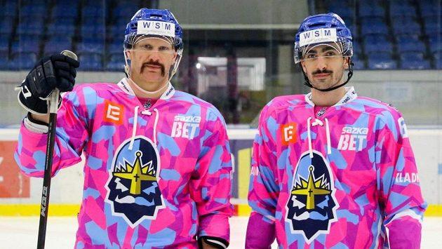 Hokejsité Kladna odehrají zápas WSM ligy ve speciálních dresech na podporu charitativní akce Movember.