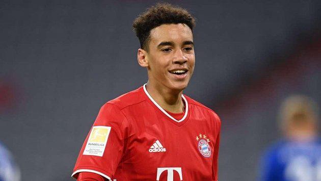 Ofenzivní záložník Bayernu Jamal Musiala.