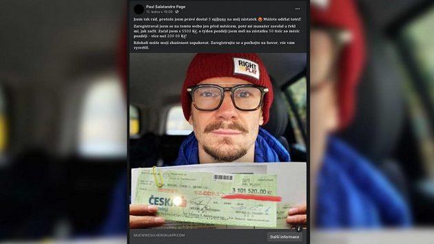 Patrik Eliáš se právní cestou brání zneužití své fotografie v reklamě na pochybný výdělek.