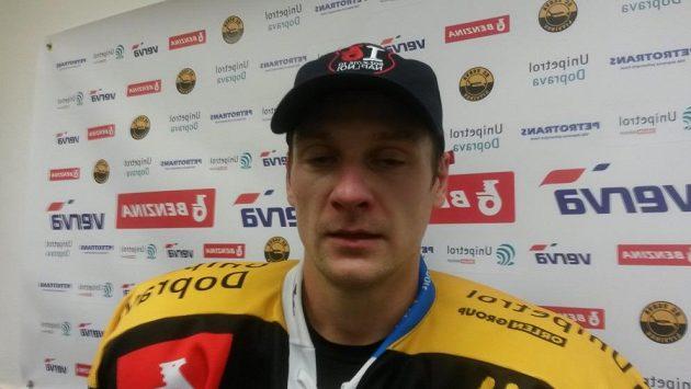 Útočník hokejistů Litvínova Jakub Černý.