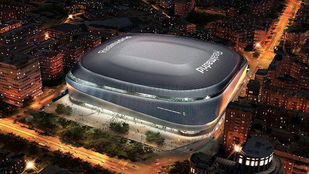 Vizualizace nového stadionu Realu Madrid Santiago Bernabéu.