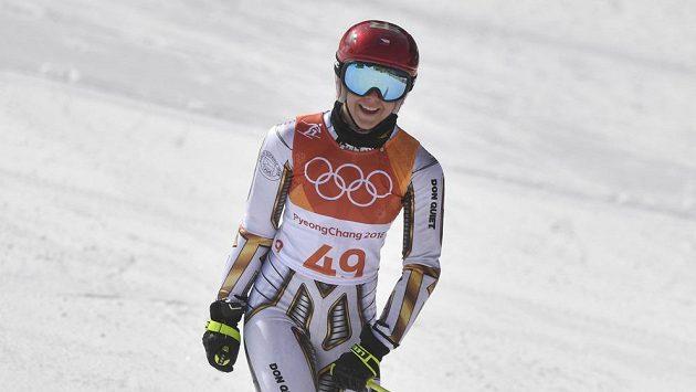 Česká reprezentantka Ester Ledecká po obřím slalomu na ZOH.