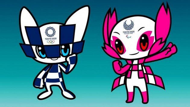 Maskoti olympiády v Tokiu - Miraitowa a Someity.