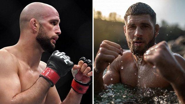 Volkan Oezdemir (vlevo) a Jiří Procházka. Kdo vyhraje vzájemný duel na galavečeru UFC 251?