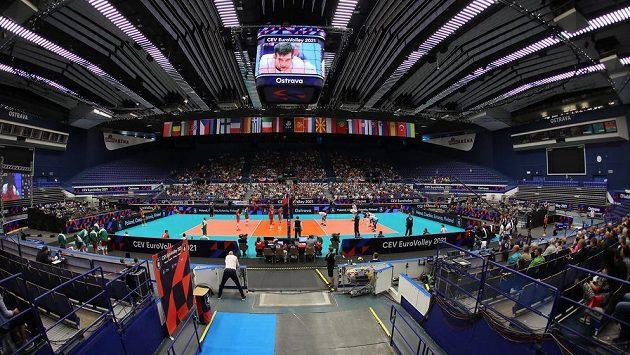 Mistrovství Evropy volejbalistů probíhá také v Ostravě.