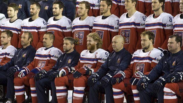 Čeští hokejisté na MS v Paříži.