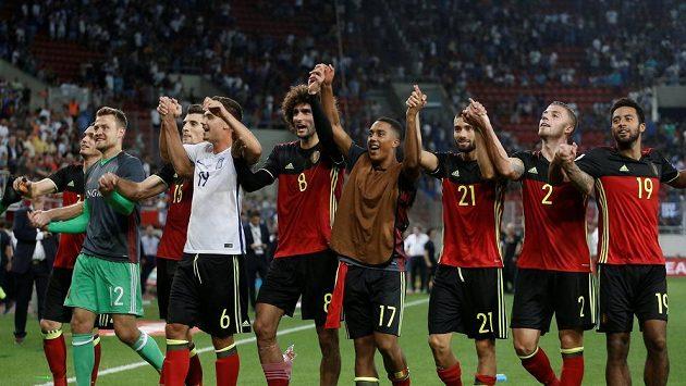 Postupová radost Belgičanů. Po výhře v Řecku si jako první evropský celek zajistili účast na MS 2018 v Rusku.