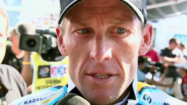 Americký cyklista Lance Armstrong.