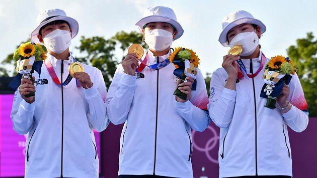 Korejské lukostřelkyně vyhrály v Tokiu soutěž družstev i podeváté od Soulu 1988