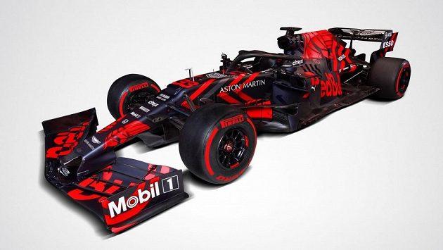 Red Bull RB15. Atraktivní barevný design nadchl fanoušky, závodní model ale bude vypadat ještě jinak.