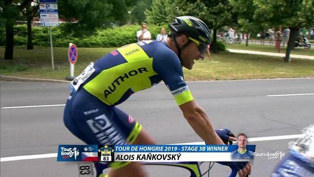 Český cyklista Alois Kaňkovský vyhrál páteční druhou část etapy závodu Kolem Maďarska.