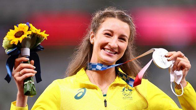 Australská výškařka Nicola McDermottová získala v Tokiu stříbrnou medaili.